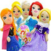 Bonecas Pelúcias Cinderela Ariel Anna Elsa Rapunzel Princesas Disney