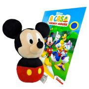 Coleção com Boneco De Pelúcia Mickey e Livro para Colorir Disney