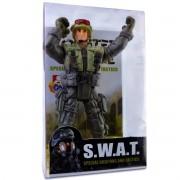 Boneco Swat Policial Soldado Tático Figura De Ação