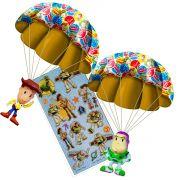 Boneco Toy Story Com Paraquedas Woody E Buzz Candide mais Adesivo