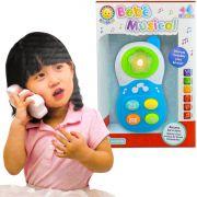 Brinquedo Para Bebê Celular Infantil Com Luz E Sons Azul