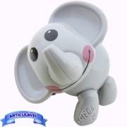 Brinquedo para Bebê Elefante Articulado Minha Primeira Coleção Mini Animais - CKS