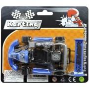 Carrinho Fricção Karting Azul