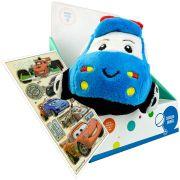 Carro de Pelúcia com Chocalho Infantil Azul Unik Toys Mais Adesivo