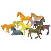 Coleção com 10 Cavalos Mini Animais Selvagens - Ark Toys