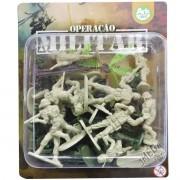 Coleção com 24 Mini Soldados Operação Militar - Ark Toys