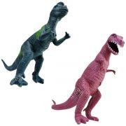 Coleção com 2 Dinossauros Tiranossauro Rex e Dilofossauro Animais Jurássicos