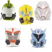 Coleção Com 5 Miniaturas Transformers Mashems Dtc Promoção