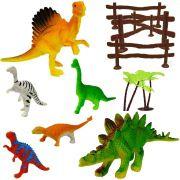 Coleção Com 6 Mini Dinossauros Animais Jurássicos Ark Toys