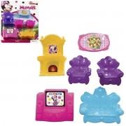 Coleção com 6 Mini Móveis Salinha Minnie Disney