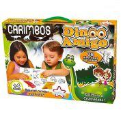 Carimbo Infantil Dino Amigo Coleção com 8 Unidades e Almofada