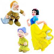 Coleção Minhas Miniaturas Disney Branca De Neve E 2 Anões