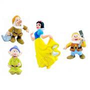 Coleção Minhas Miniaturas Disney Branca De Neve E 3 Anões
