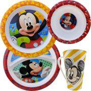 Conjunto Refeições com 2 Pratos 1 Tigela 1 Caneca Mickey