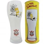 Copo de Cerveja Joinville Aqui é Corinthians Bart Os Simpsons - Artebel
