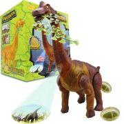 Dinossauro Braquiossauro Com Som Luz Movimento e Projeta Imagem