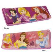 Estojo Infantil de Plástico com 2 Compartimentos Princesas Disney