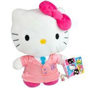 Hello Kitty Colegial Boneca De Pelúcia Sanrio Dtc Mais Escova