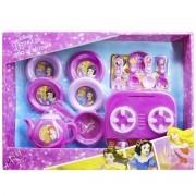 Jogo de Cozinha com Mini Fogão e 10 Acessórios Princesas Disney - Toyng