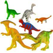 Kit 6 Mini Dinossauros Animais Jurássicos Com 6 Acessórios