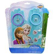 Kit Beleza Frozen Luvas Brincos Anéis Pulseiras Disney Fantasias