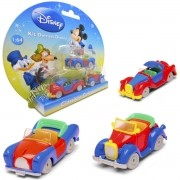 Kit c/ 3 Mini Carrinhos Tio Patinhas, Mickey e Pato Donald Diecast Disney Clássicos - Yellow