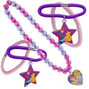 Kit Colar com Pingente Princesas Disney mais Maria Chiquinha