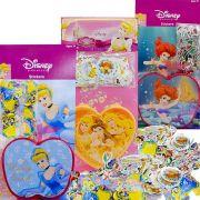 Kit Com 300 Mini Adesivos + Porta Adesivos Princesas Disney