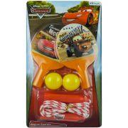 Kit Esporte com 2 Raquetes e 2 Bolinhas de Ping Pong e 1 Pula Corda Carros Disney