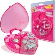 Kit Estojo com Miçangas Barbie Coração - Fun