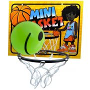 Kit Mini Basket Cesta e Bolinha Verde de Basquete MccBrink