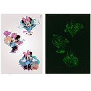 Kit Minnie 10 Cartelas Adesivos de Parede Brilha no Escuro Minnie Disney