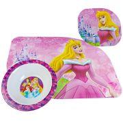 Kit Refeição Tigela E Jogo Americano Princesas Disney
