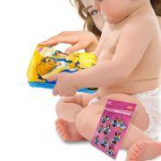Livro de Pelúcia A Bela e a Fera para Bebê mais Adesivo