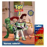 Livro + Kit Giz de Cera Vamos Colorir Toy Story Disney - DCL