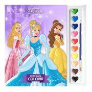 Livro para Colorir Aquarela Princesas Disney - DCL