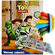 Livro Para Colorir Toy Story Com Giz De Cera Mais Adesivo