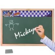 Lousa Verde Escolar Madeira Mickey Mouse com Giz e Esponja