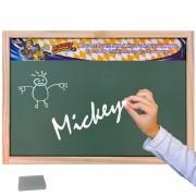 Lousa Verde Escolar Madeira Mickey Mouse Série Disney Junior