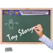 Lousa Verde Escolar Madeira Toy Story com Giz e Esponja