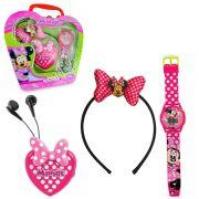 Maleta com Relógio de Pulso Rádio e Tiara Minnie Disney - Candide