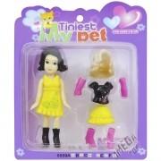 Mini Boneca com Acessórios Tiniest My Pet Morena