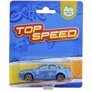 Mini Carrinho de Plástico Top Speed Azul - Ark Toys