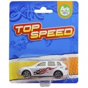 Mini Carrinho de Plástico Top Speed Prata - Ark Toys