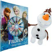 Pelúcia Olaf mais Livro para Colorir Frozen com Giz de Cera