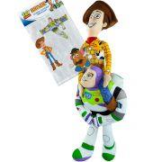Pelúcias Toy Story Woody e Buzz Lightyear Disney Store mais Adesivo