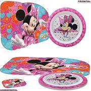 Prato Infantil Minnie mais Jogo Americano Disney