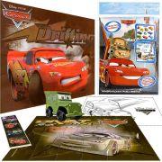 Quebra cabeça + Carrinho Sargento + Posters e Adesivo Carros Disney