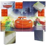 Quebra Cabeça Mosaico de Plástico com 24 Peças Carros Disney