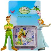 Relógio Despertador Tinker Bell e Miniaturas Peter Pan E Wendy